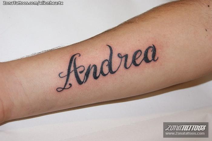 Tatuaje de Nombres, Letras, Andrea