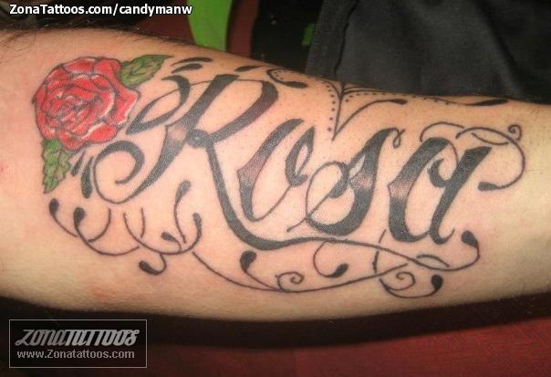 Tatuajes Y Diseños Del Nombre Rosa