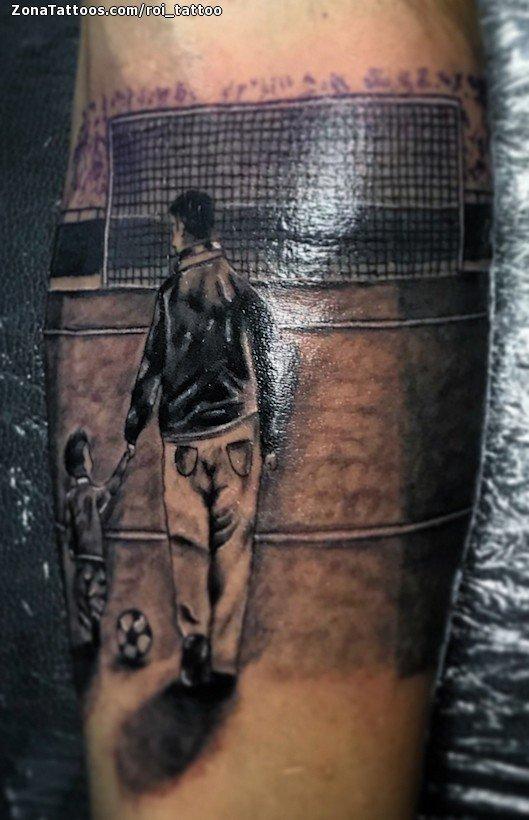 Tattoo Of People Soccer Football Sports