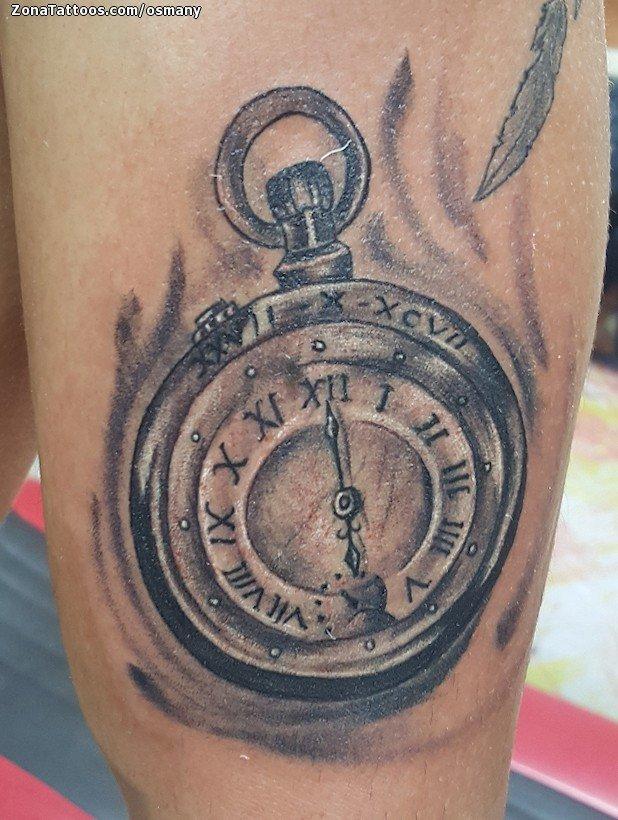Tatuaje De Relojes Brazo