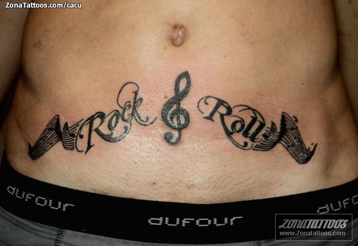 Tatuajes de letras musicales - Imagui