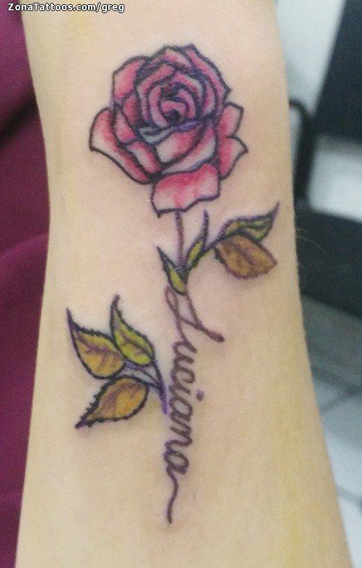 Tatuaje De Rosas Flores Muñeca
