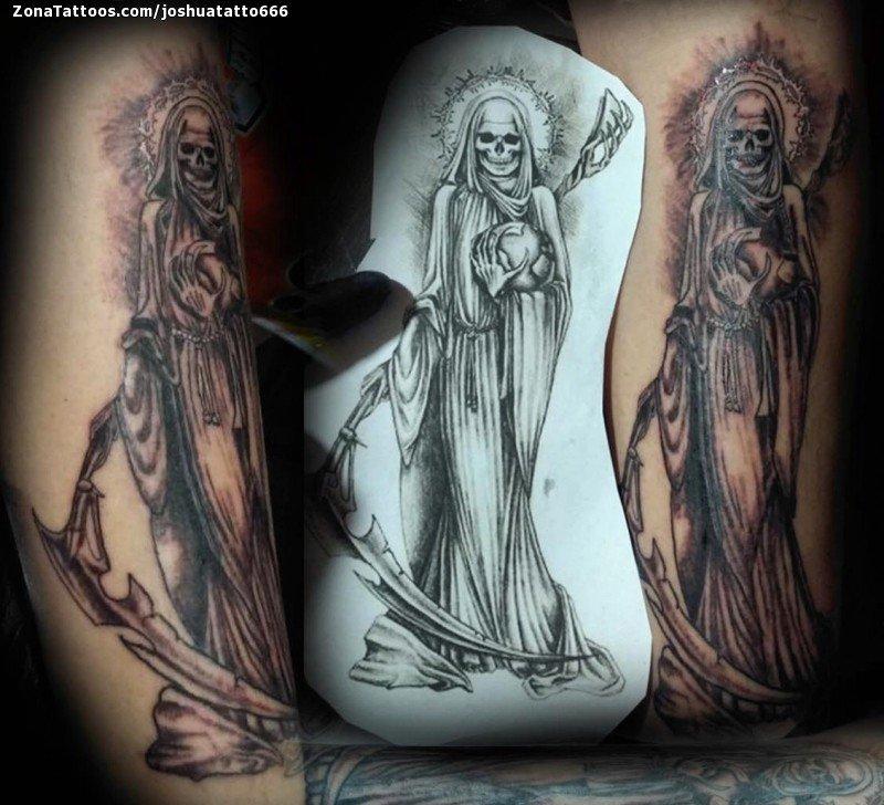 Tatuaje De Santa Muerte Religiosos