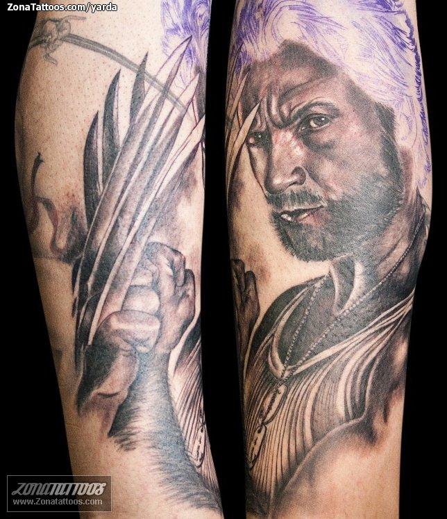 Tatuaje De Lobezno X Men Superheroes