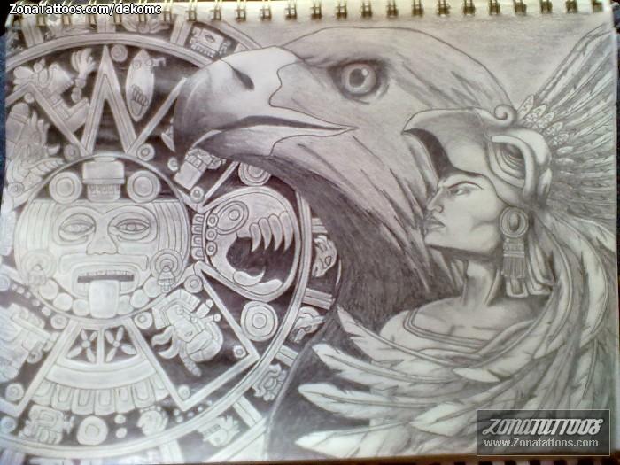 Diseño De águilas Aztecas