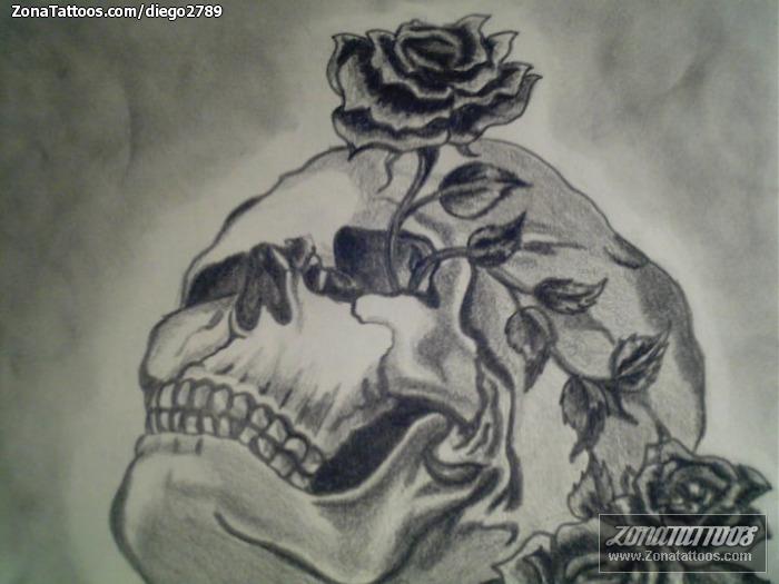 Diseño De Calaveras Rosas