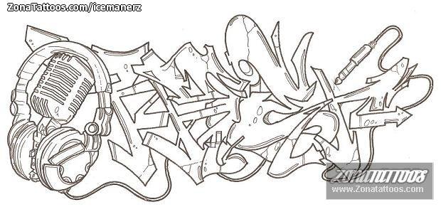 Diseño/Plantilla tatuaje Graffitis