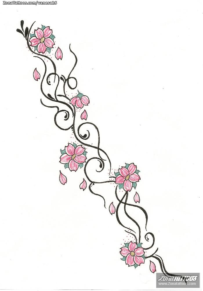 Diseño De Flores Enredaderas