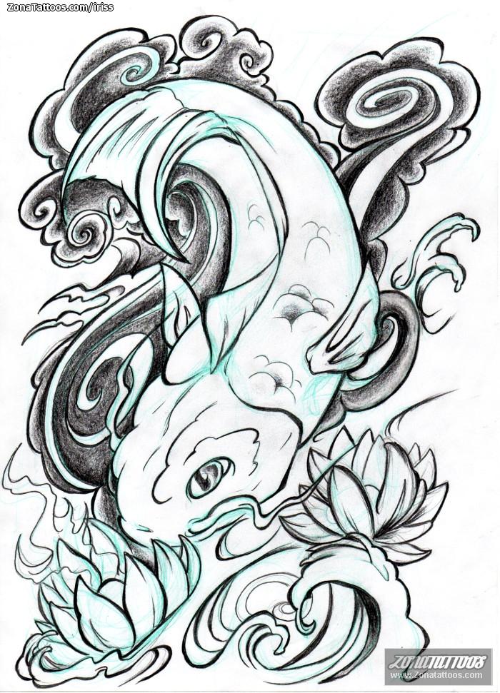 Increíble Dibujo De Peces Koi Para Colorear Motivo - Dibujos Para ...