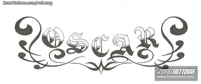 Tatuajes Y Diseños Del Nombre óscar Zonatattoos
