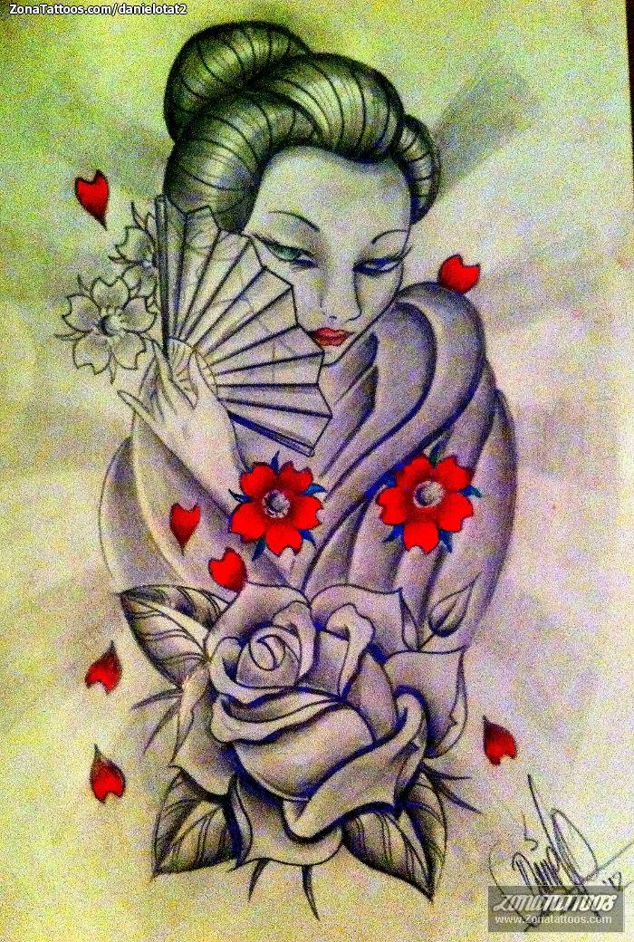 dise o de geishas orientales