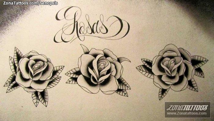 Design Of Roses Old School Flowers