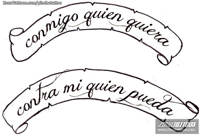 tatuaje de letras frases pergaminos