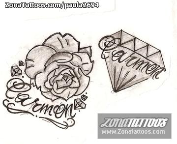 Tatuajes Y Diseños Del Nombre Carmen Zonatattoos