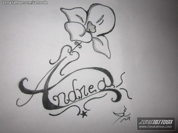 Graffitis con el nombre andrea a lapiz , Imagui