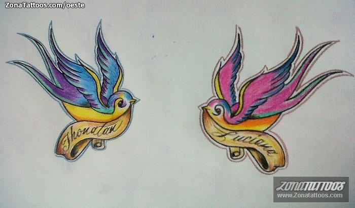 Design Of Swallows Old School Birds