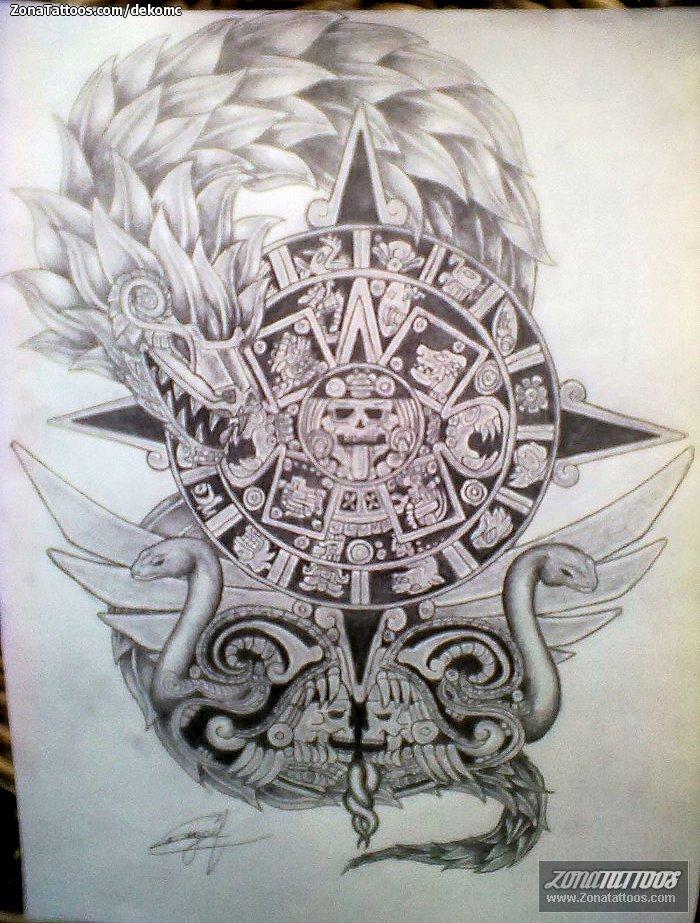 Diseño De Prehispánicos Aztecas Calendarios