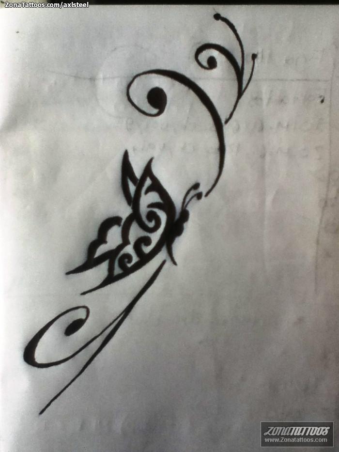 Diseño De Mariposas Insectos Filigranas