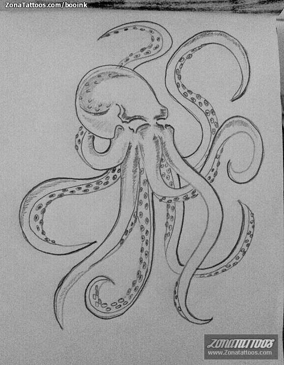 Plantilla/Diseño Tatuaje de Booink - Pulpos Animales