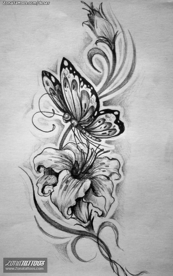 Tatuajes Y Diseños Con Mariposas