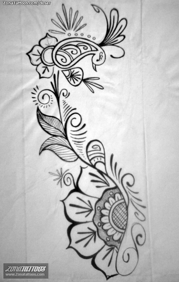 Diseño De Enredaderas Filigranas Flores