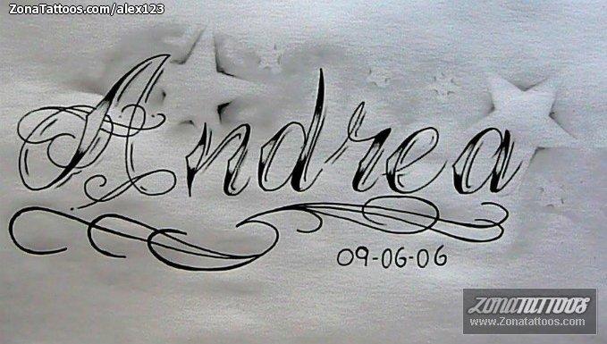 Diseo de Andrea Letras Nombres