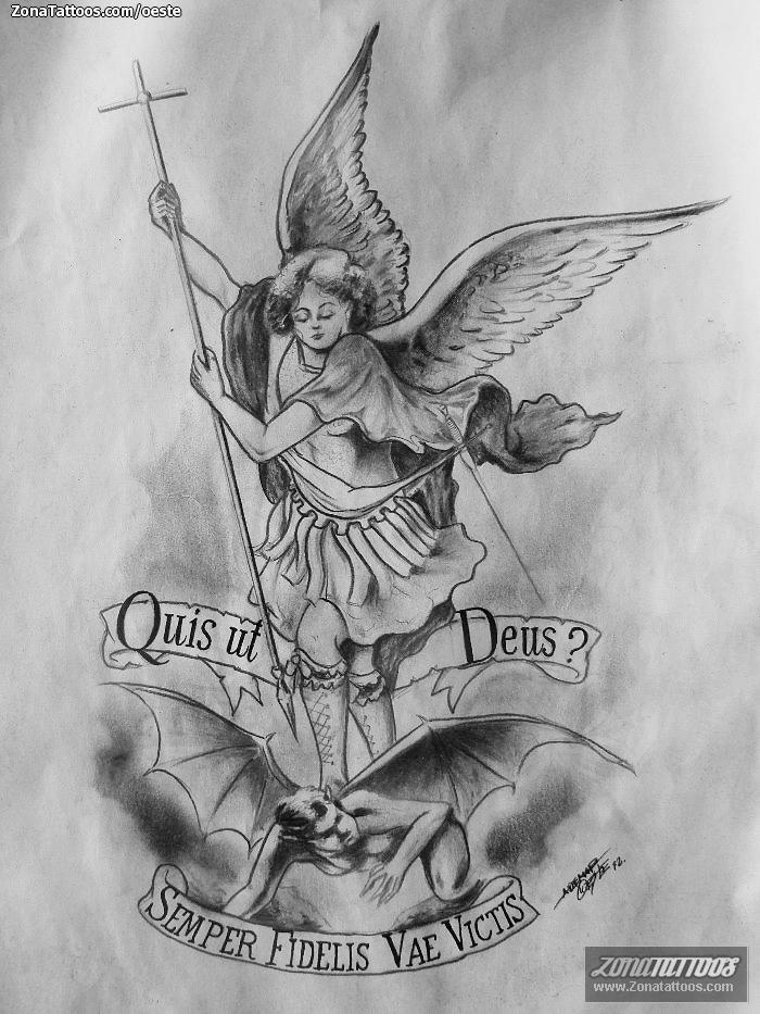 Diseño/Plantilla tatuaje Ángeles