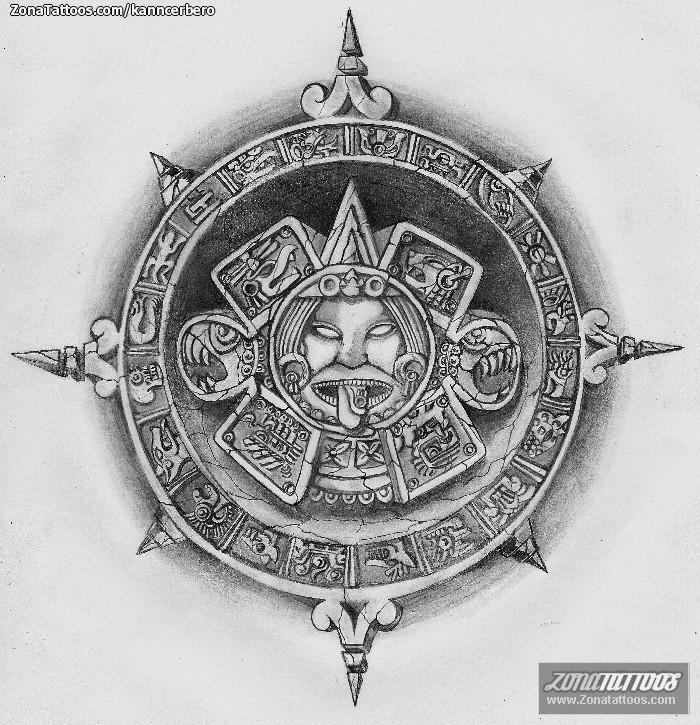 Diseño De Aztecas Calendarios