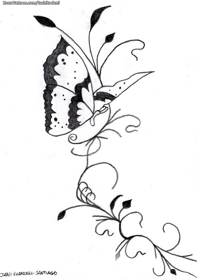Diseño De Mariposas Enredaderas