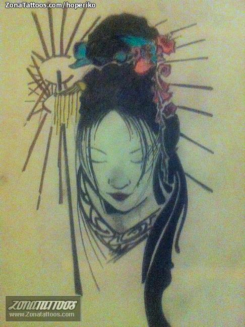 Diseño/Plantilla tatuaje Geishas