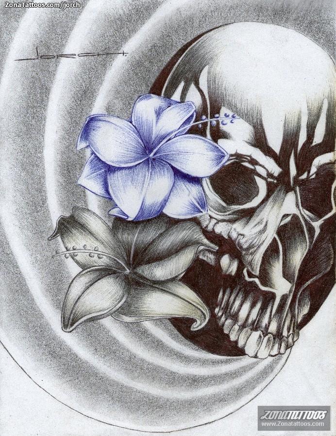 Diseño De Calaveras Flores