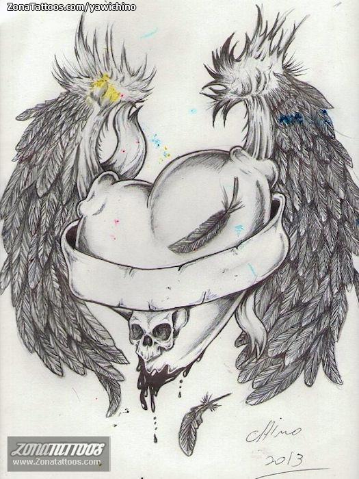 Imagenes de corazones con alas hechos a lapiz - Imagui