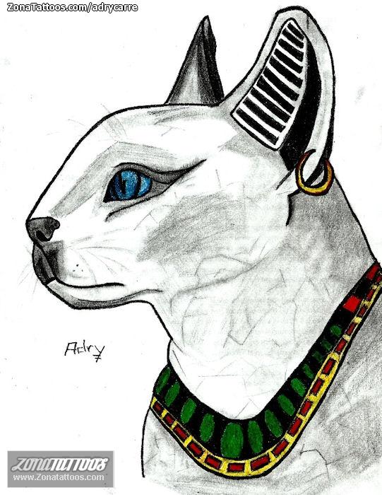 Plantilladiseo Tatuaje De Adrycarre Egipcios Gatos
