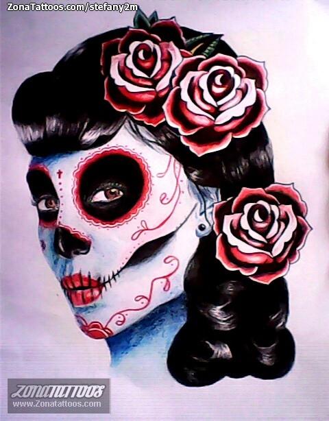 Foto diseño Flores, Rosas, Catrinas