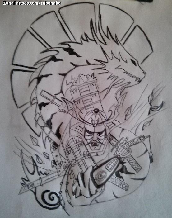 Diseño De Samurais Orientales