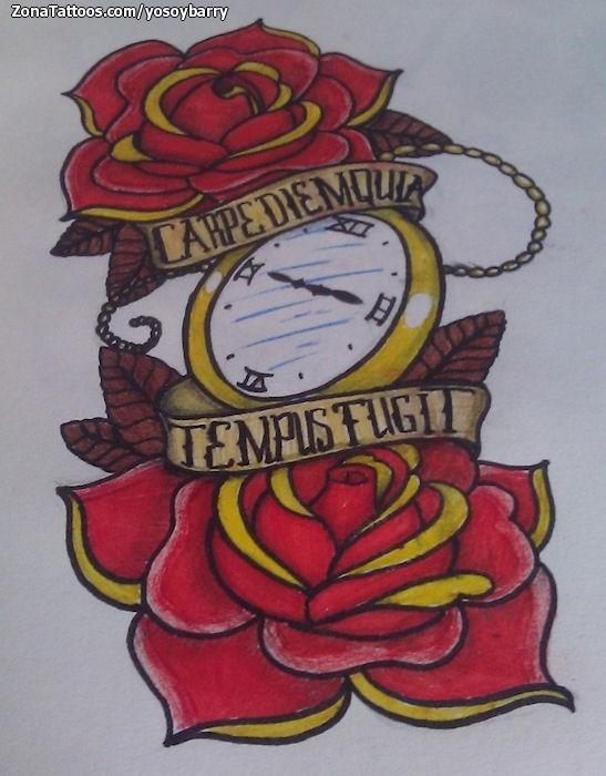 Design Of Roses Clocks Old School