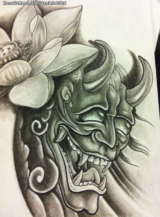 Tatuajes Y Diseños De Hannya La Máscara Japonesa