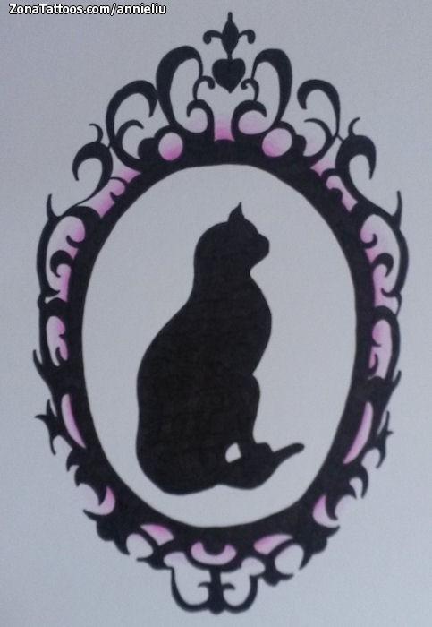 Diseño de Gatos, Siluetas, Animales