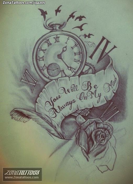 Diseno De Relojes Pergaminos Rosas