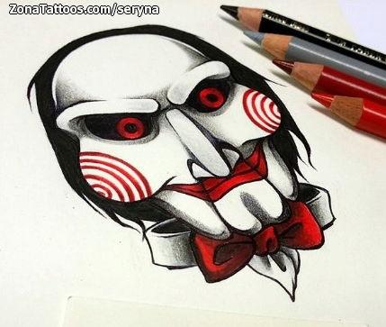 Tattoo Flash of Saw, Movies