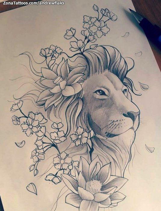 Tatuajes De Leones Y Diseños De Leones