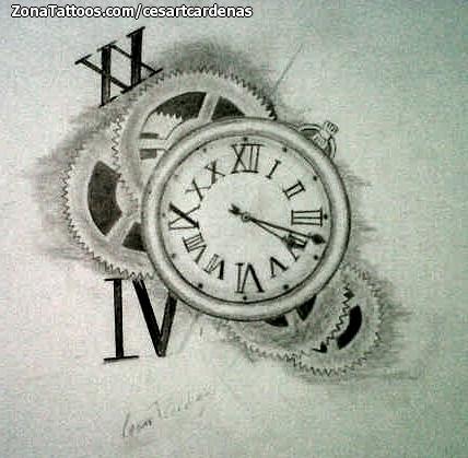 De tatuajes para mujeres y hombres tatuaje reloj bolsillo for Imagenes de relojes