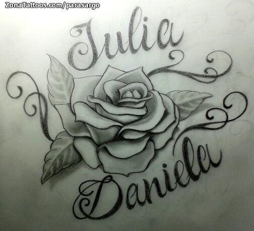 Diseo de Rosas Nombres Daniela