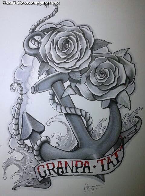 Tatuajes Y Diseños De Anclas