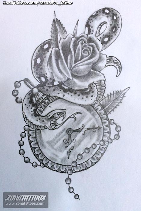 Diseno De Relojes Serpientes Rosas