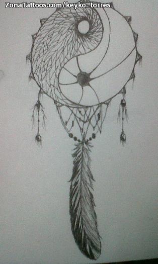 Diseño De Atrapasueños Yin Y Yang