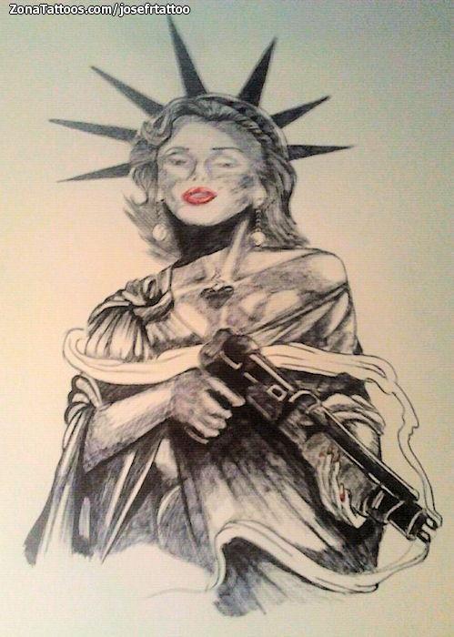 Tatuajes Y Diseños De La Estatua De La Libertad