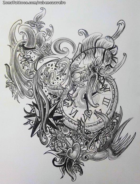 Dise o de relojes ornamentos - Relojes de pared diseno ...