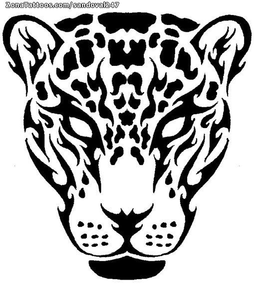 7def855c4dbf1 Tattoo flash photo Tribal, Jaguar, Animals