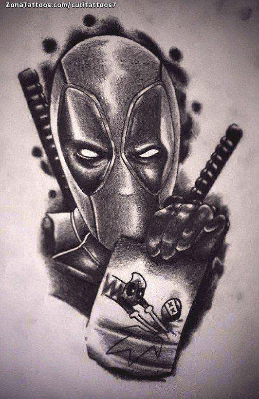 Tattoo Flash Of Deadpool Superheroes Comics